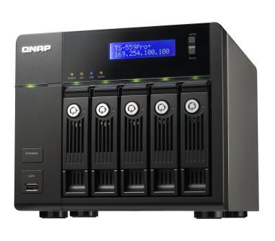 QNAP TS-559 Pro+ с вертикальными отсеками под HDD