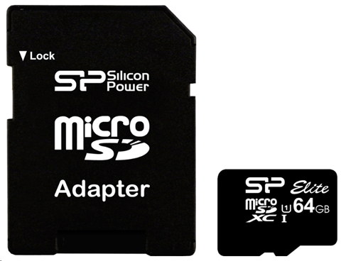 Комплектация Silicon Power ELITE microSDXC 64GB UHS Class 1