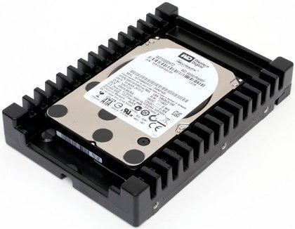 VelociRaptor - яркий пример быстрого винчестера с высокой частотой вращения. Без массивного радиатора HDD быстро перегреется.