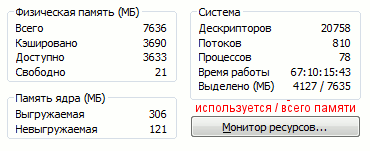 Диспетчер задач в Windows 7