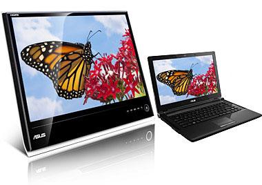 Экран монитора больше экрана ноутбука